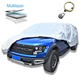 AOYMEI Pickup Truck Cover Waterproof All Weather,Windproof Sunproof Outdoors Car Covers with Cotton,Universal Fit (Truck, Length Up to 210')