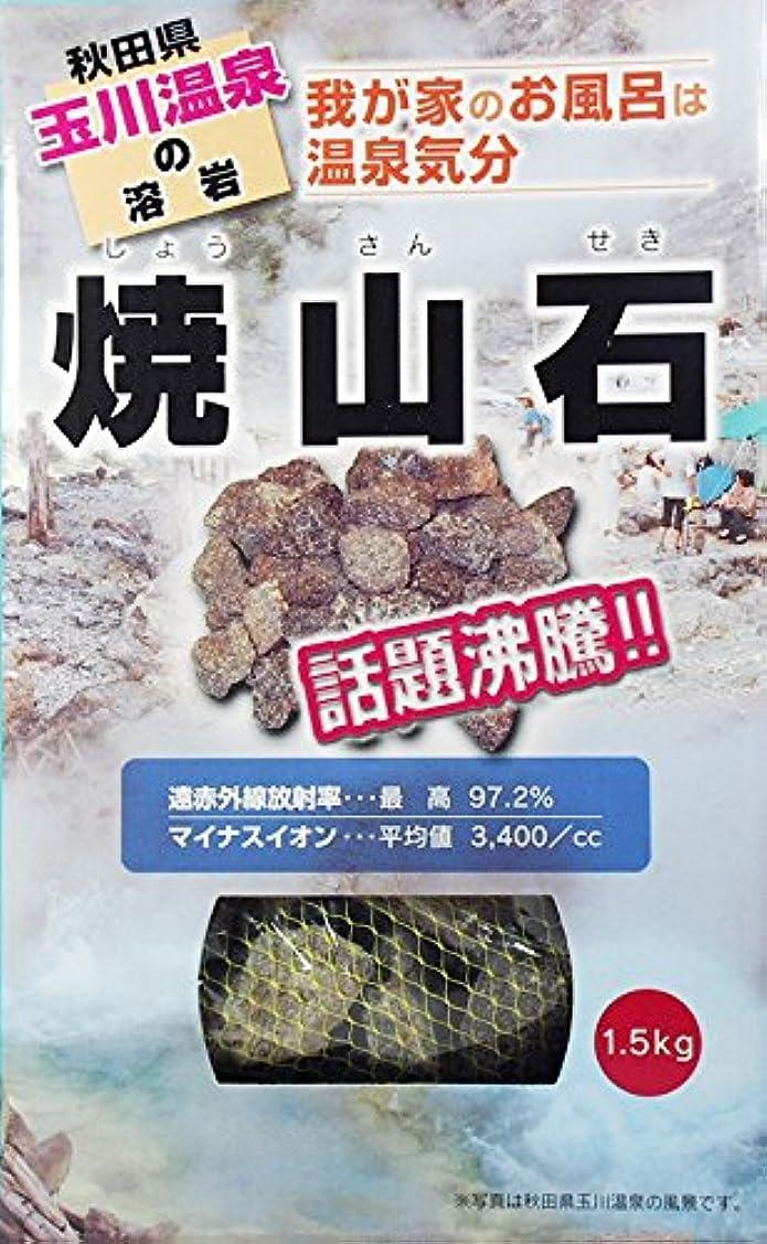 話をする宿アクセル【秋田玉川温泉湧出の核】焼山石1.5kg【お風呂でポカポカに】