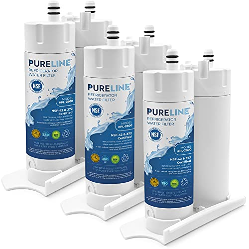 Pureline EWF01 Water Filter Replacement for Electrolux EWF01, WF2CB, NGFC 2000, FC-300, FC300, MB-100, MB100, EFF-6018A, 241988703, 46-9911(3 Pack)