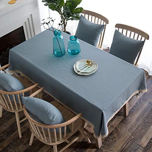 LUNANA tafelkleed, vuilafstotend, vlekwerend, linnen look, rechthoekig, voor rechthoekig tafelkleed, vuilafstotend, 120 x 120 cm