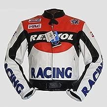 livin4limit 4LIMIT Repsol - Chaqueta de Piel para Motorista con diseño de Honda Repsol MotoGP