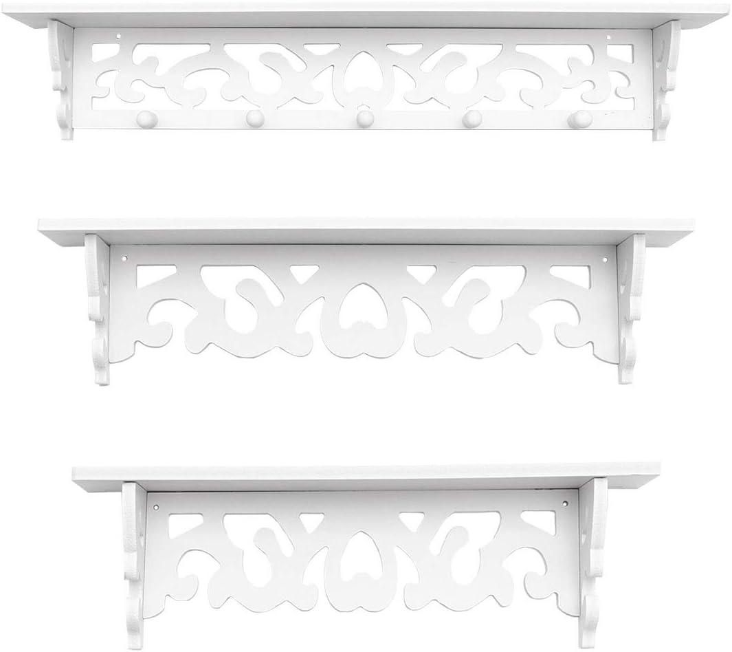 New York Mall DOITOOL 1 Set List price of 3pcs Wall Ro Storage Bedroom for Living Shelves