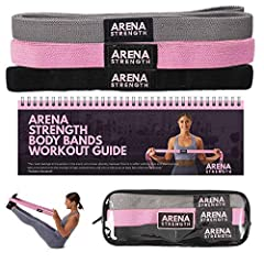 STRENGTHEN AND TONE YOUR ENTIRE BODY: Our Pink Body Bands & Workout Guide will help you strengthen and tone your entire body from home. Easy to use & incredibly versatile, feel stronger in as little as 10 minutes a day. Perfect for home workouts, tra...