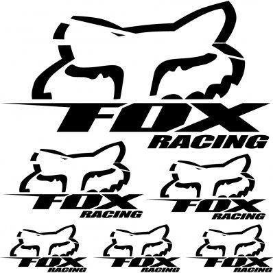 SUPERSTICKI Fox Racing Sponsorset 218 ca 30cm Motorrad Bike Motorcycle Aufkleber Bike Auto Racing Tuning aus Hochleistungsfolie Aufkleber Autoaufkleber Tuningaufkleber Hochleistungsfolie fü