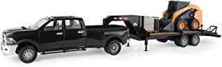 TOMY Big Farm Case Construction Ram Truck, Skid Loader & Gooseneck Trailer Set