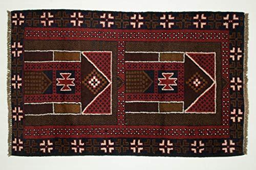 Belutsch Teppich Afghan 125x80 Orientalischer Beloutsch 80x130 Handgeknüpft 49