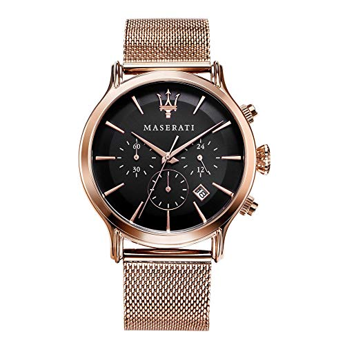 Orologio da uomo, Collezione Epoca, movimento al quarzo, cronografo, in acciaio e PVD oro rosa - R8873618005