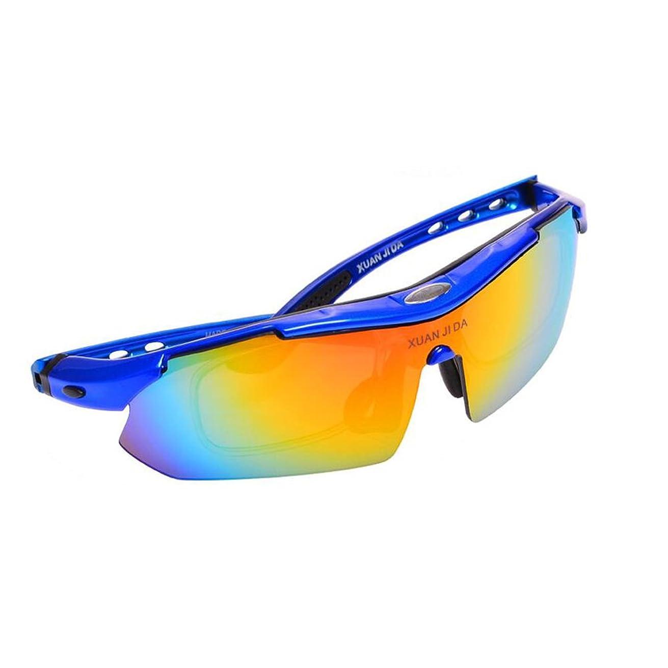 複製小学生溶けるサングラス サイクリングサングラス - 太陽屋外偏光 - 近視眼鏡フレーム付き (色 : B)