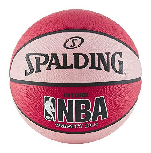 Spalding NBA Varsity Outdoor Basketball aus Gummi, Rot/Pink, Größe 6