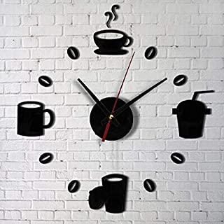 Fashion Acrylic DIY Self Adhesive Interior Wall Creative Decoration Clock Vintage Home Decor adesivi murali adesivo