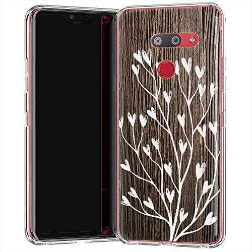 Lex Altern TPU Hülle für LG G8 ThinQ V60 V50 V40 Velvet 5G Stylo 6 K61 G7 Flexibel Schutz Pflanzen Weiß Niedlich Mädchen Durchsichtig Baum Frauen Dünn Brett Weiche Leicht Hülle Geschenk Holz uk0252