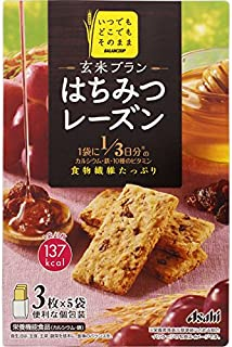 Asahi Balance Up Brown Rice Honey Raisin Bar Cereal Cookie, 150 g