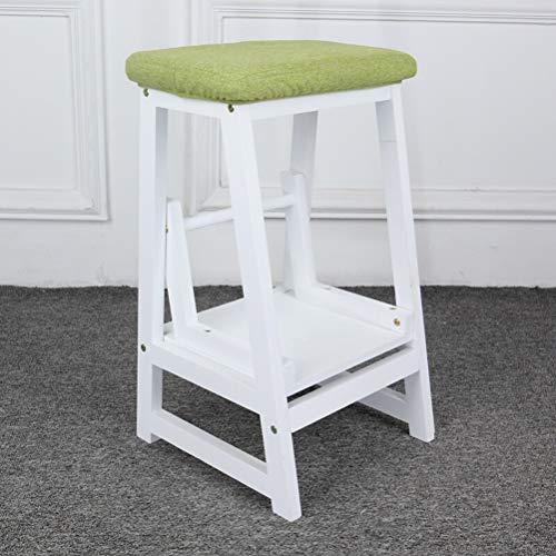 AMBH Trappen Multifunctionele Stap Kruk Voor VolwassenenHouten 2 Stappen Stap Kruk Vouwen Ladder Voor Thuis Keuken Bibliotheek Loft 3.15