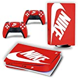 PS5 Skin for Console and Controller Disk Edition, PS5 Console Skin & Playstation 5 Skin for Console and Cotrolloers, Vinyl Decal Stickers for PS5 Console and Controllers, Disk Edition - Red Shoebox