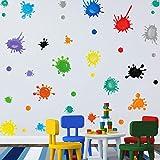 35 Stück Wandtattoo fürs Kinderzimmer,Punkte Wandufkleber für Klassenzimmer,Wandaufkleber Bunter Kreis,Bunt Wandsticker,Tupfen Wanddeko für Mädchen Junge Schlafzimmer Babyzimmer Spielzimmer Tür Deko