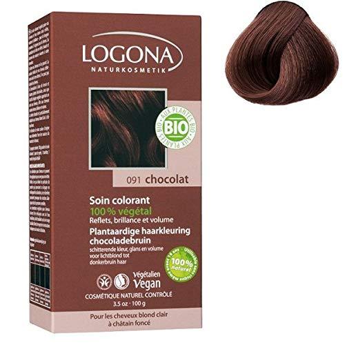 Logona verzorgingsverf nr. 091, chocolade, 100 g, biologisch, 2 stuks