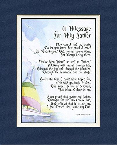 Dad Father Poem Print Christmas Thank You Appreciatioin Love Gift 60th 70th 80th Birthday Present