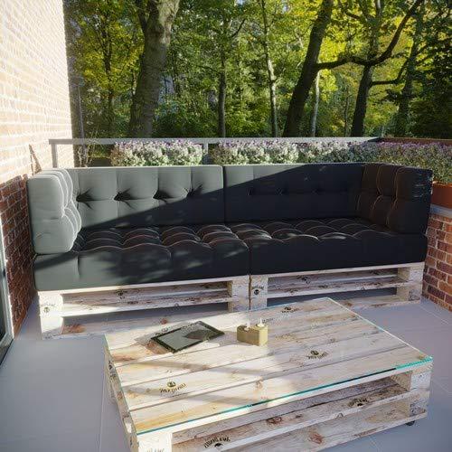 MSS® 6er-Set Relax Palettenkissen Palettenposter Palettensofa Anthrazit Hell & Dunkel