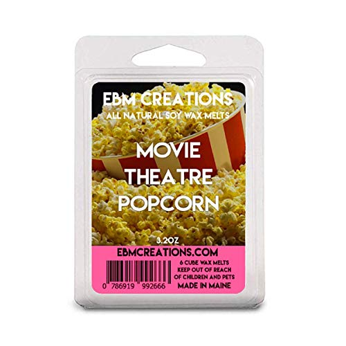 Movie Theatre Popcorn - July 2019 Scent Of The Month - Scented All Natural Soy Wax Melts - 6 Cube Clamshell 3.2oz Highly Scented!