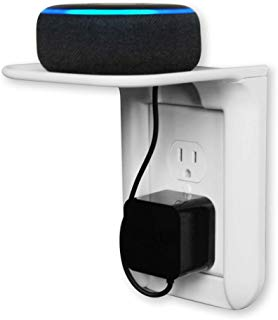 Summit Peak Supplies NEW Outlet Shelf - Space Saving Design, Storage Management Solution, Can Safely Hold Up To 7lbs! - Holds iPhone, Amazon Echo, Amazon Dot, and Bluetooth Speaker