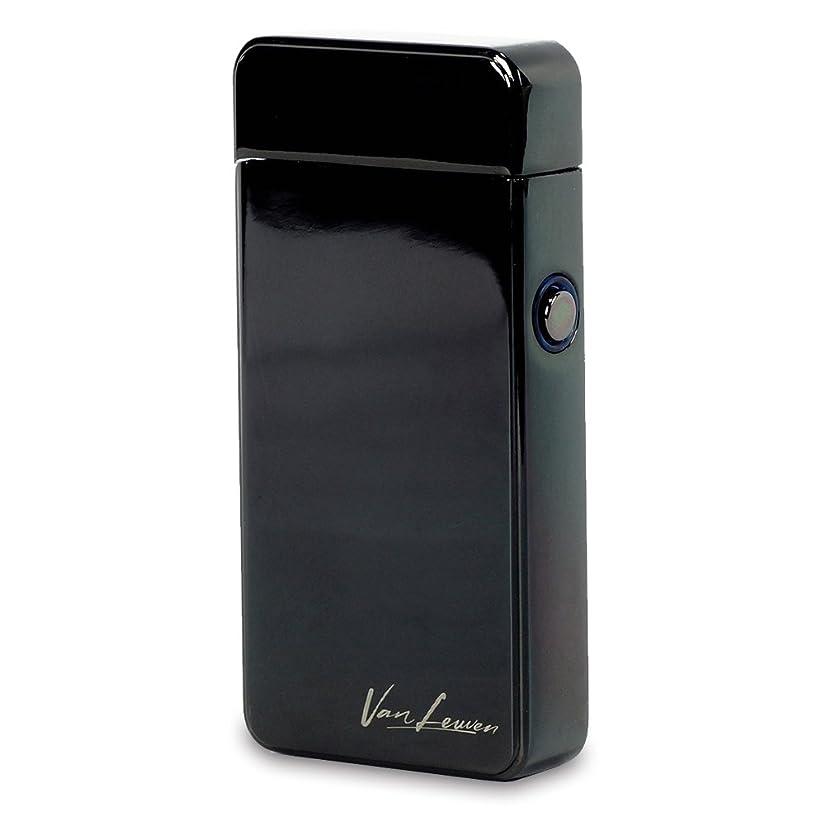 呼吸判読できない突然のライター 電子 USB 充電式 ターボ プラズマ オイル?ガス不要 アウトドア ギフト 風防 着火 Van Leuven(ヴァン ルーヴェン) (黒艶あり)