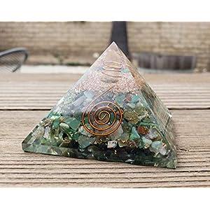 Extra Large Chrysoprase Gemstone Orgone Pyramid