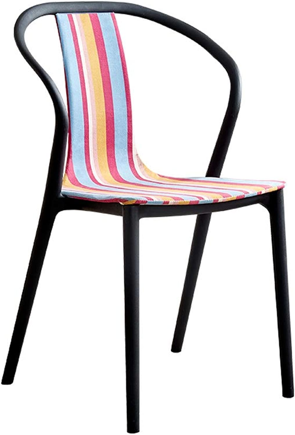 Household Armchairs, Nordic Casual Adult Chair Modern Simplicity Dining Chair with Backrest Breakfast Stool Bar Chair, for Kitchen, Restaurant, Cafe, Bar (Size  49  43  91cm) (color   H)