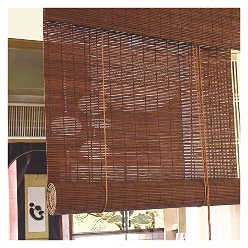 CAIJUN Bambú Enrollable Ciego, Retro Panel De Decoración De Pared Parasol De Elevación Dividir Impermeable, El Tamaño Se Puede Personalizar (Color : A, Size : 60x180cm)