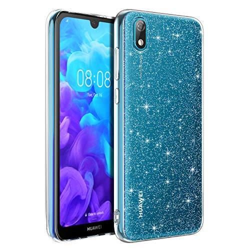 Bentoben - Carcasa para Huawei Y5 2019 con purpurina de TPU suave silicona de protección ultrafina ultrafina para Huawei Y5 2019 de 5,71 pulgadas