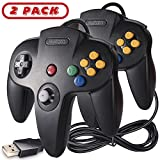 2 Pack Classic N64 USB Controller,kiwitatá Retro N64 Bit USB Wired PC Game