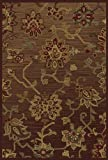 OW Sphinx Allure Brown Green Rug Transitional 7'8' Round (054C1)