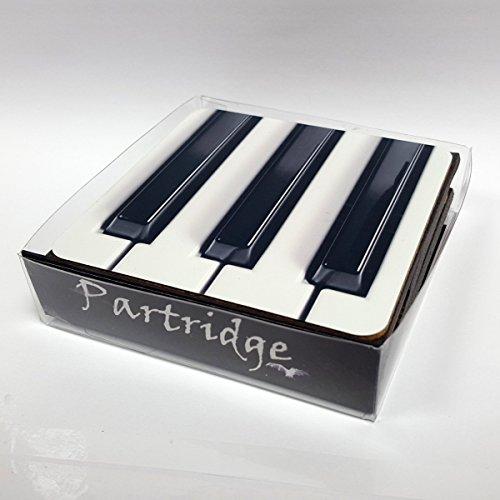 Piano Design Set van 4 onderzetters van Partridge - PIANO-CSTR