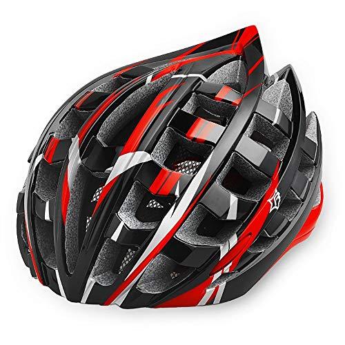 Ultraleicht Fahrradhelm,Specialized Aerodynamik MTB Straße Helm Mountainbike Helm Verstellbar Radhelm Herren Damen mit Belüftungskanäle,CE Zertifizierung