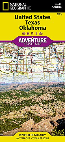 United States, Texas and Oklahoma (National Geographic Adventure Travel Map North America, Band 3123)