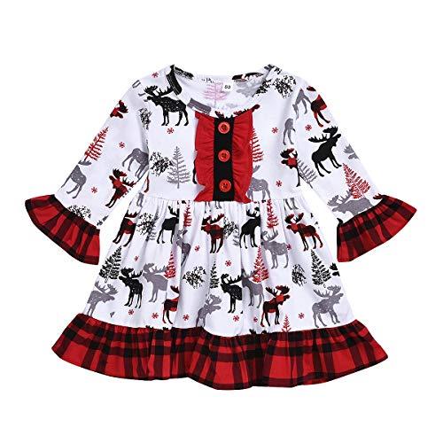T TALENTBABY - Vestito natalizio per neonati e bambine Colore: rosso 18-24 Mesi