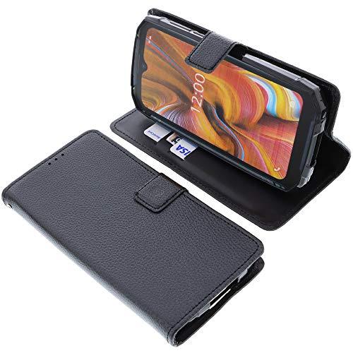 foto-kontor Tasche für Doogee S96 PRO Book Style schwarz Schutz Hülle Buch