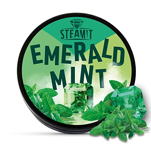 SteamIt Tabak Ersatz Dampfsteine - Shisha Steam Stones - nikotinfreier Tabakersatz für Wasserpfeifen (Mint)