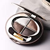Highly Pigmented Eyeshadow Palette, Professional 4 Color Waterproof Shimmer Eye Shadow Palette ,Long-Lasing Wear Easy to Blend Makeup Pallet Cruelty-Free,0.3oz