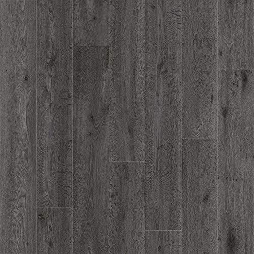 Plaza Black Ash Anti Slip Wood Effect Cushion Vinyl Flooring Lino (Sample 10cm x 10cm Approx)
