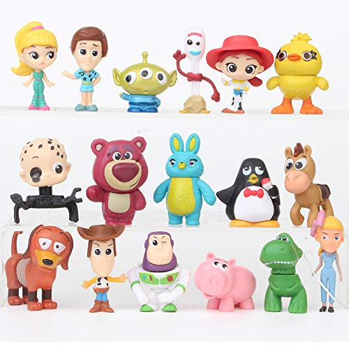 17 Pcs Mini Figurines for Kids – Collectible Toy Story Cake Toppers – Great Party Favors for Toddlers – Toy Story…