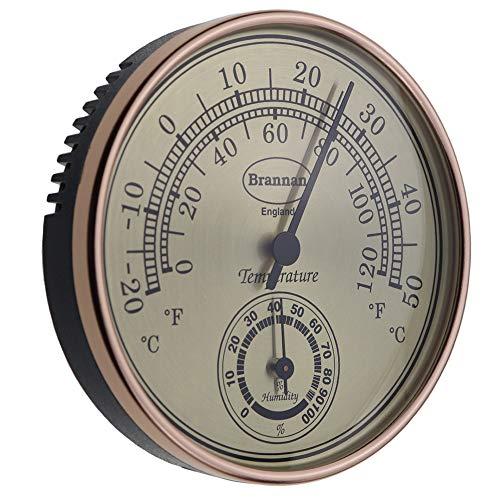 Brannan Termometro Igrometro Quadrante Dorato Serra Giardino Casa Ufficio - Misura Temperatura E Umidità