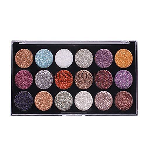 Auifor 18 kleuren glitter oogschaduw poeder glitter oogschaduw cosmetica make-up zwart