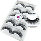 Luxurious 100% Siberian Mink Fur 3D False Eyelash LASGOOS Degisn Natural Messy Thick Long Volume Fake Eyelashes Makeup 5 Pairs/Box (A06)