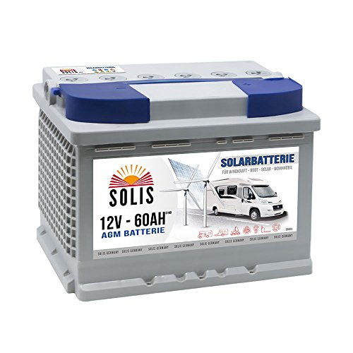 AGM Solarbatterie 60AH Boots Wohnmobil Solar Versorgungs Batterie