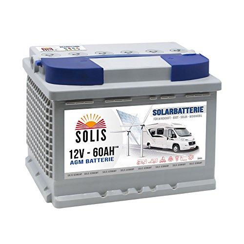 Preisvergleich Produktbild AGM Solarbatterie 60AH Boots Wohnmobil Solar Versorgungs Batterie 65Ah