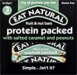 Eat Natural Bars Protein Packed with Salted Caramel & Peanuts, 45g - Pack of 3
