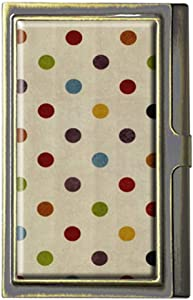Cute Rainbow Polka Dot Business Card Holders Bank Name Case Holder Bronze Card Credit ID Case Box Pocket Wallet Purse