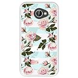 Hapdey Funda Transparente para [ LG K5 ] diseño [ Ilustración botánica florecida, Rosas Rosadas ] Carcasa Silicona Flexible TPU