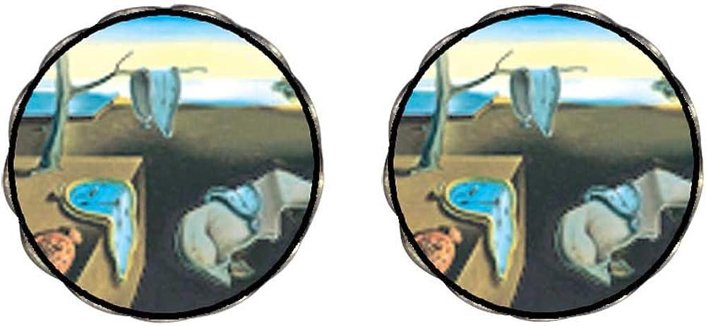 GiftJewelryShop Bronze Retro Style Dali's Persistence Of Memory Clip On Earrings Flower Earrings #12