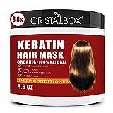 Keratin Hair Mask,2021 Deep Repair Damage Hair Root, 250ml Hair Mask for Dry Damaged Hair,Hair...